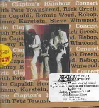 ERIC CLAPTON'S RAINBOW CONCERT BY CLAPTON,ERIC (CD)